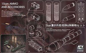 AFV-Club-1-35-AF35193-15cm-Ammo-amp-Accessories-for-sIG-33-Heavy-Infantry-Gun