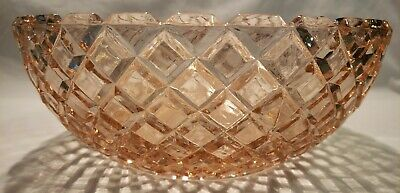 Pink Depression Glass Anchor Hocking Waterford Waffle Pattern Fruit bowl