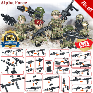 New Modern Military Building Block Military Camouflage Soldiers Figures
