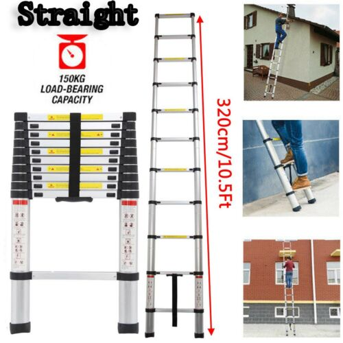 5M Multi-Purpose Telescopic Aluminium Ladder Folding Extension EN131 2.6 Meter