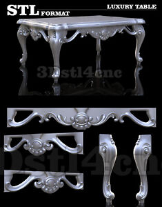 4-3D-STL-Models-Luxury-Table-3003-for-CNC-Router-Carving-Machine-Artcam-aspire