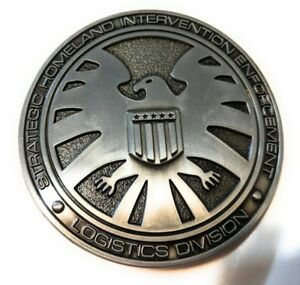 Marvel-Comics-Agents-of-SHIELD-S-H-I-E-L-D-Logo-BELT-BUCKLE-Collectible-Avengers