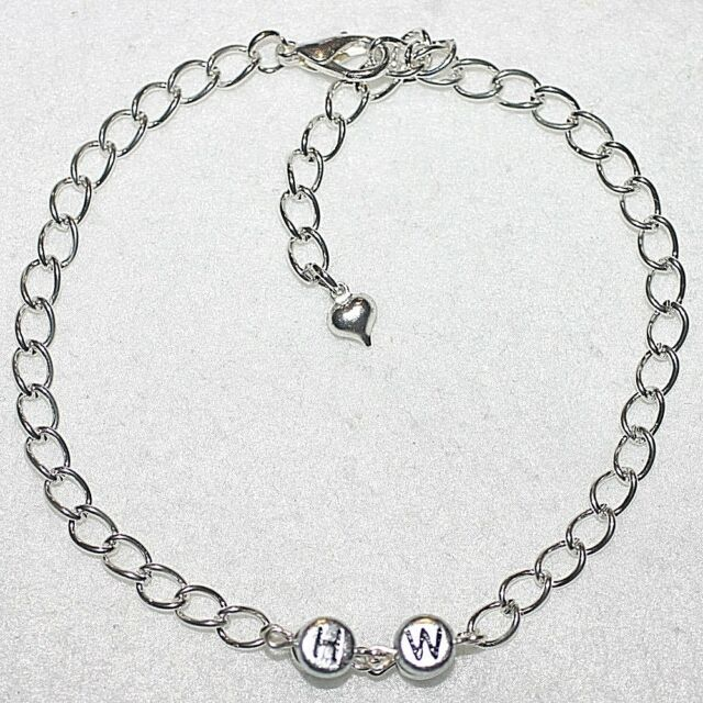 b110aa7aee339 Chain Link HW Hotwife Heart Charm Anklet / Ankle Bracelet Fun Gift