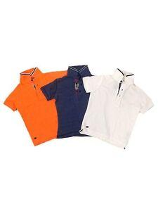 Next-Boys-Short-Sleeve-Pique-Polo-Shirt-Blue-or-Orange-Age-3-4-5-6-7-NEW-SALE