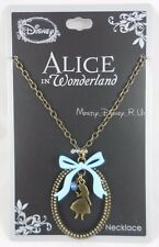 New Disney Alice In Wonderland Silhouette Dangle Pendant Necklace With CZ Stone