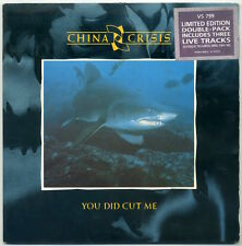 """CHINA CRISIS You Did Cut Me 2x7"""" 1985 UK Virgin EX+ in VG+ jacket"""