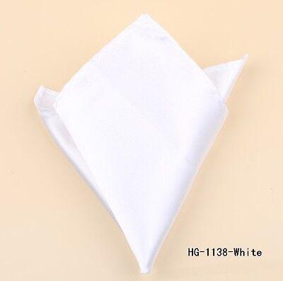 Acquista A Buon Mercato Tuta Tasca Hankerchief Bianco () Nuovo Di Zecca 22cm X 22cm-mostra Il Titolo Originale In Molti Stili