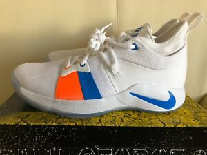 0db5baae826 Nike PG 2 The Bait II AJ2039-100 White Photo Blue Mens Basketball ...