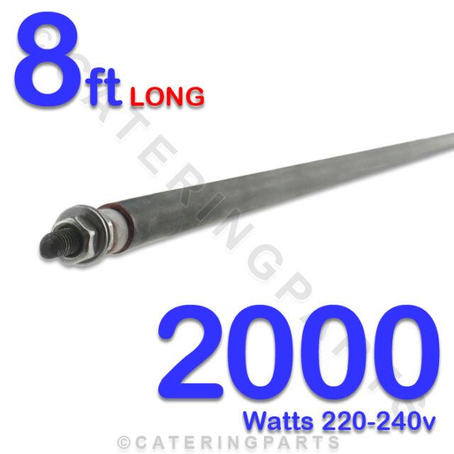 """HE9620 96"""" / 8ft LONG 2000 WATT 2kW DRY / WET ROD 230v HEATING ELEMENT UNIVERSAL"""