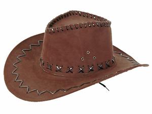 Chapeau-cowboy-imitation-cuir-MARRON