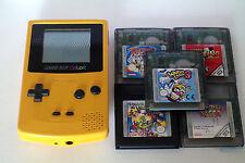 Console Nintendo Game Boy color jaune avec 5 jeux - Wario Game & watch..