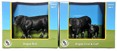 Farm Toys 1:20 Scale Big Country Toys Angus Bull Farm Animal Toys Hand Painted