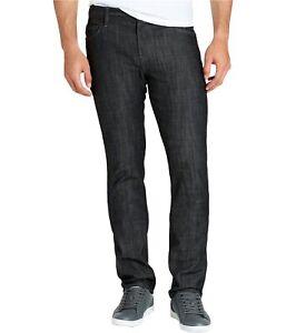 William Rast Mens Dean Slim Straight Leg Jeans, Black, 31W x 32L
