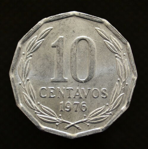 UNC Animal coin Chile 10 Centavos 1976-77 Eagle km205a South America coin