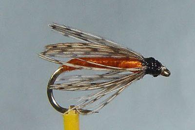1 x Mouche peche Noyée Bille Olive Dadat H10//12//14 wet fly bead