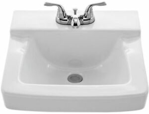 Image Is Loading Aquasource 4 034 Centerset White Wall Mount Square