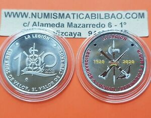 CENTENARIO-DE-LA-LEGION-ESPANOLA-MEDALLA-a-COLORES-similar-moneda-10-EUROS-2020