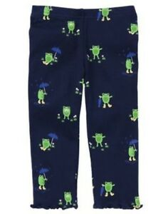GYMBOREE-FLOWER-SHOWERS-NAVY-FROG-IN-THE-RAIN-LEGGING-3-6-12-18-24-2T-3T-4T-NWT