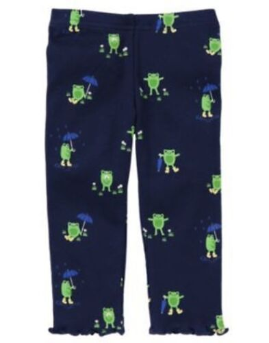 GYMBOREE FLOWER SHOWERS NAVY FROG IN THE RAIN LEGGING 3 6 12 18 24 2T 3T 4T NWT