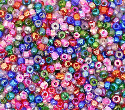 40 g de perles de rocaille économique rouge marron taille 8
