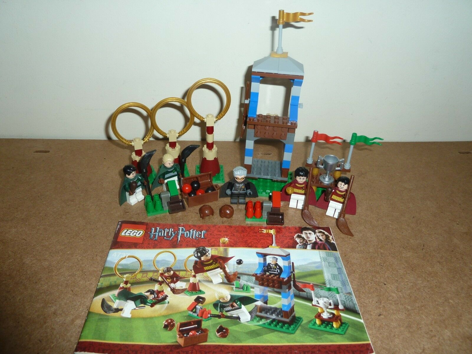 LEGO HARRY POTTER 4737 QUIDDITCH MATCH COMPLETE 5 FIGURES INSTRUCTIONS