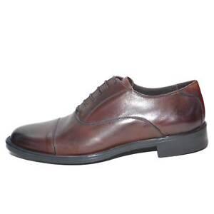Dettagli su Scarpe uomo francesina stringata marrone vera pelle spazzolata art:b2345 anticat