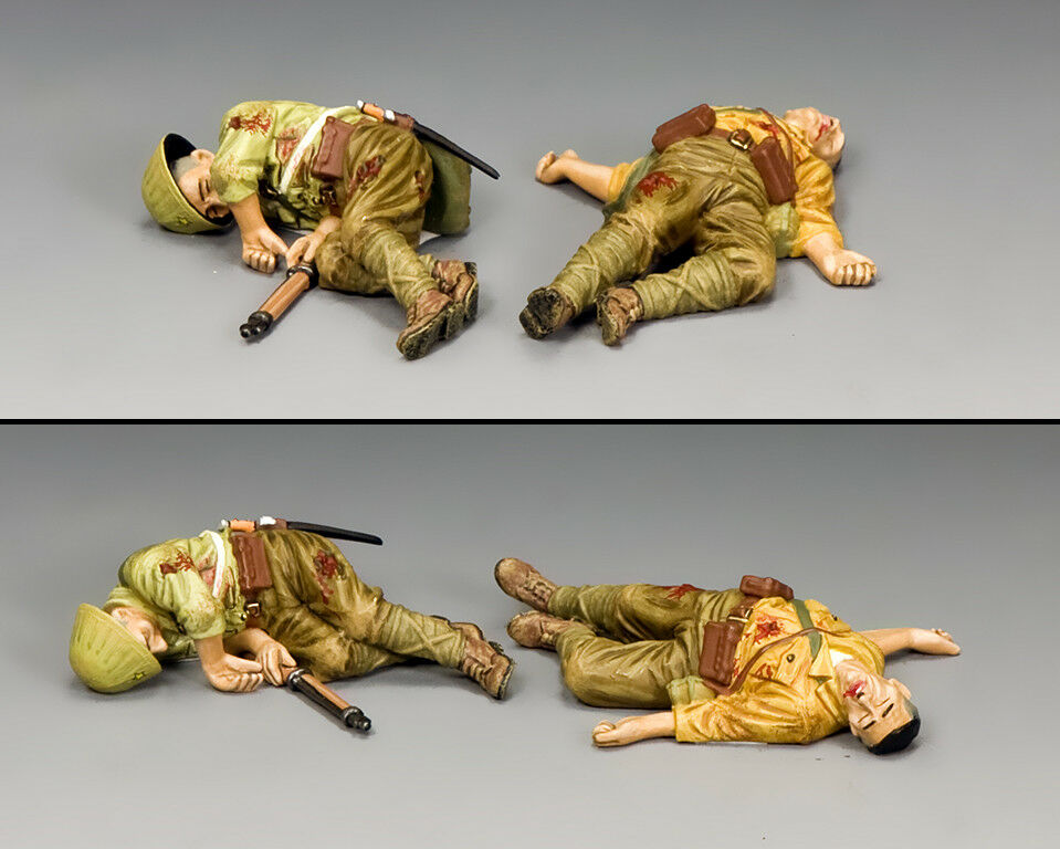 "KING KING AND COUNTRY ""Dead Japanese Set  1"" (2 x figs) WW2 JN047"
