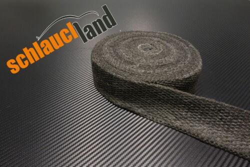 30m Keramik Hitzeschutzband 50mm schwarz 1200°C ***Heat Wrap Turbo Fächerkrümmer
