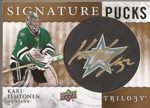 KARI-LEHTONEN-2014-15-Trilogy-Signature-Pucks-Autograph-DALLAS-STARS