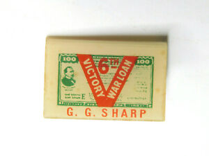 Vintage WWII 1944 6th Victory Loan Pin Pinback Button G.G. Sharp Whitehead Hoag