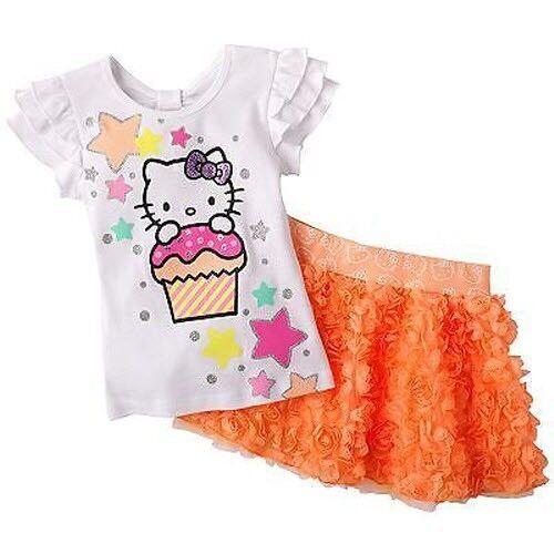 5 Hello Kitty  size 4 6 6X Tutu Tunic /& Leggings Set