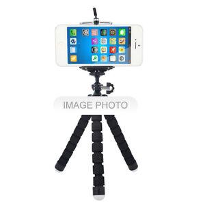 Mini-Flexible-Trepied-Support-Pince-pour-Smartphone-Appareil-Photo-Compact-BK