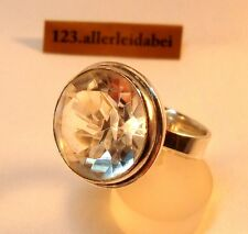 Rar Erik Granit Bergkristall Ring 925 Silber Finnland 1967 Skandinavisch /AW 248
