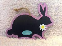 Easter Basket Chalkboard Hanging Ornaments - 7 Easter Bunny Shaped