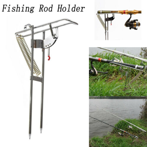 Automatic Double Springs Angle Pole Fish Pole Bracket Fishing Rod Holder Rests