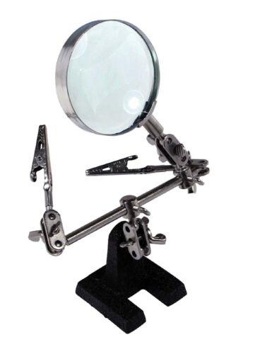Helping Extra Hands 4x Magnifier Magnifying Glass Sewing Soldering Jewelry Ring