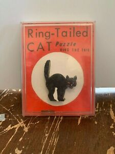 Vintage-Ring-Tailed-Cat-Puzzle-Ring-The-Tail-Skill-Game