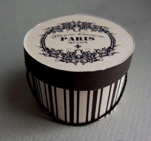 DOLLHOUSE MINIATURE ~ PARIS LADY/'S  HAT BOX  by LORRAINE SCUDERI