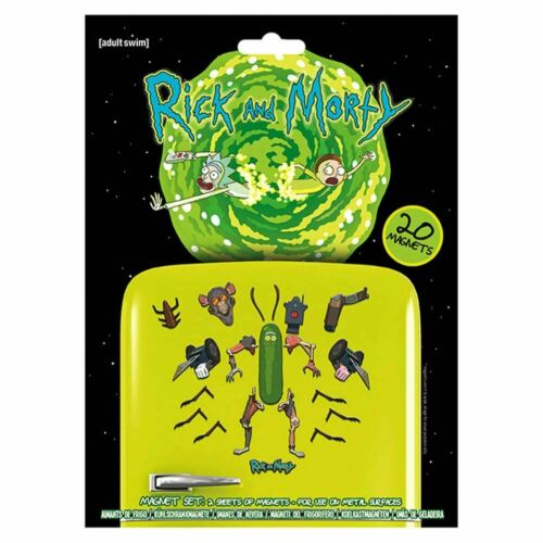 Adult Animation Rick and Morty Weaponize The Pickle Fridge Magnet Set