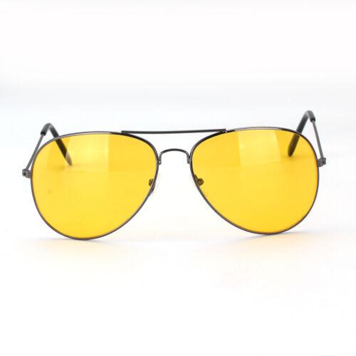 Classic Pilot Frame Yellow lens Night Driving Sunglasses Glasses