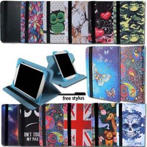 Per-Kurio-7-7S-10-Tablet-Folio-in-Pelle-Rotante-Stand-Custodia-Stylus