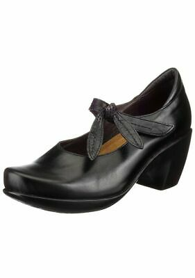 Women's Shoes Naot 'pleasure' Bow Mary Jane Ankle Strap In Black Leather Size 5/36 Retail $179 Strong Resistance To Heat And Hard Wearing