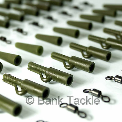 60 Piece Weedy Green Safety Lead Clip System Carp Fishing Tackle FREE POST (A7)