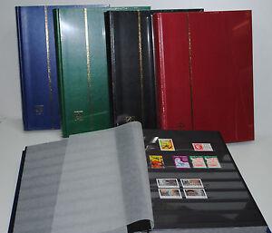 Album-timbres-Classeur-LEUCHTTURM-16-Pages-noires-1000-Timbres-ref-BASIC