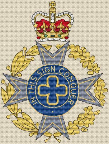 "6x8/"",15x20cm,kit or chart Royal Army Chaplains/' Department Cross Stitch Design"