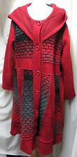 STUNNNG RED MIX, MADE IN ITALY, QUIRKY & RARE, WOOL BLEND, LINED COAT SIZE XXXL