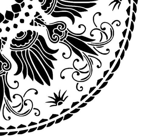 Shabby Chic vintage stencil XL galería de símbolos mesa ornament francia Brocante