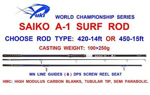 Image Is Loading YUKI SAIKO A1 SURF ROD SEA FISHING 3pc