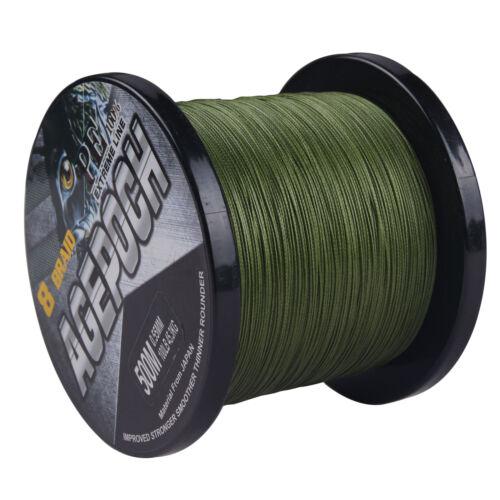 8 Strands 100M-1000M 5 Colors Dyneema Braided Fishing Line 10LB-100LB Agepoch