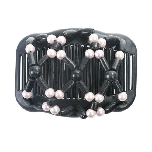 Magic Wooden Stretchy Double Clips Hair Clip Hair Slide Comb Hair Accessories
